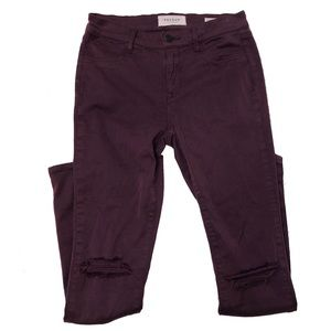 Pacsun jeggings ripped knees maroon size 26